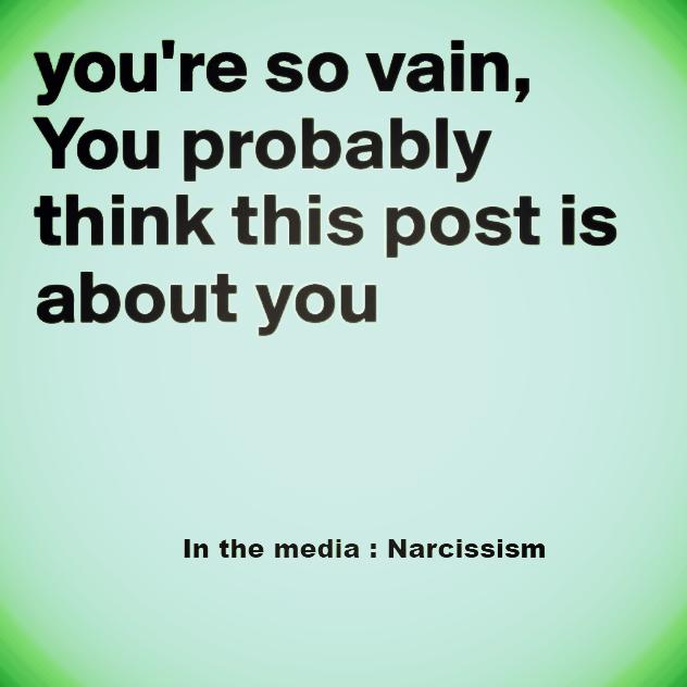in the media : Narcissism johanpersyn.com VKoN blog over narcisme